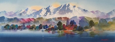 """Lake Te Anau"" Watercolour $1,200"