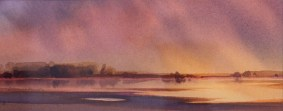 """Estuary Morning"" Watercolour $650"