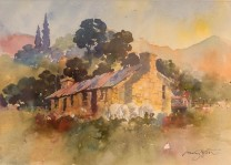 """Morven Hills, Old Cook House"" watercolour $595"