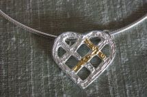 Cast Heart Pendant