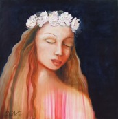 """La Rosa"" Oil on canvas $995"