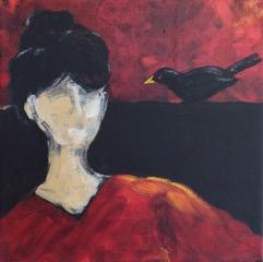 Bettina and her bird - 2